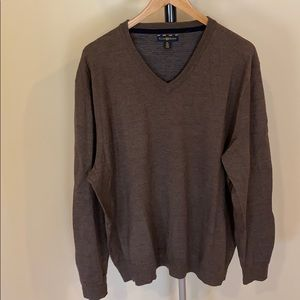 Club Room Brown V-Neck Sweater - Size XL